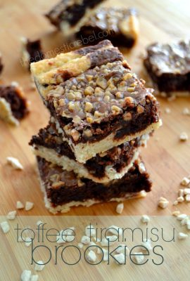 Toffee Tiramisu Brookies