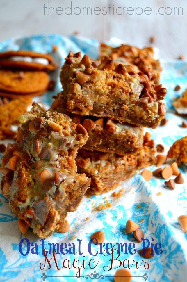 oatmeal cream pie magic bars