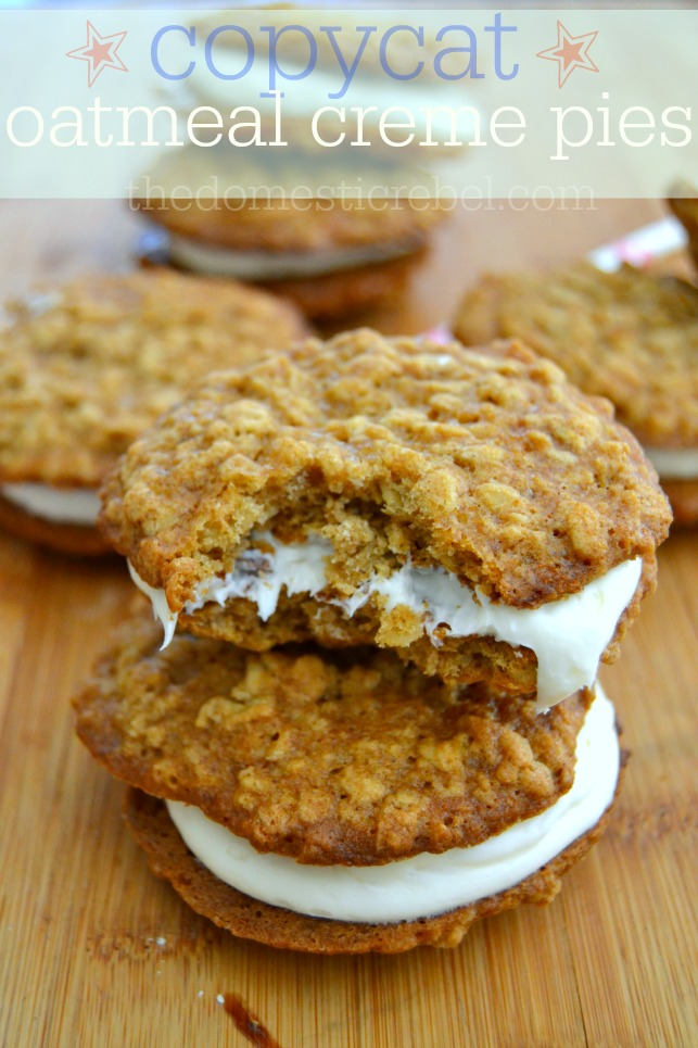 CopyCat Oatmeal Creme Pies {Oatmeal Creme Pie Week!!} | The Domestic ...