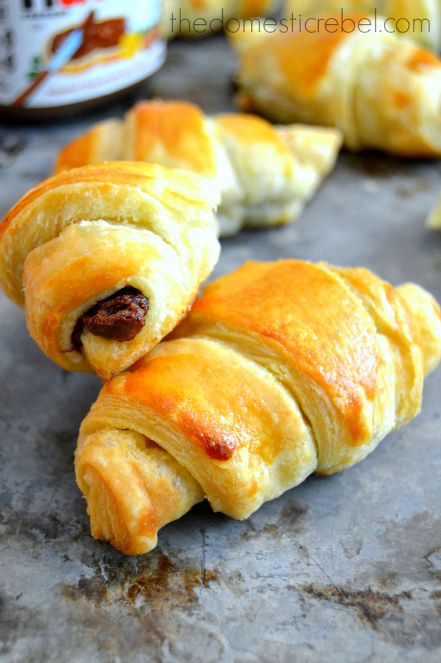 3 ingredient nutella croissants