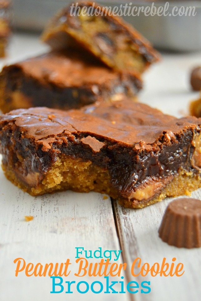 fudgy peanut butter cookie brookies