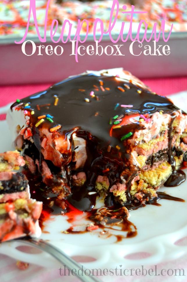 Neapolitan Oreo Icebox Cake Neapolitan Week The