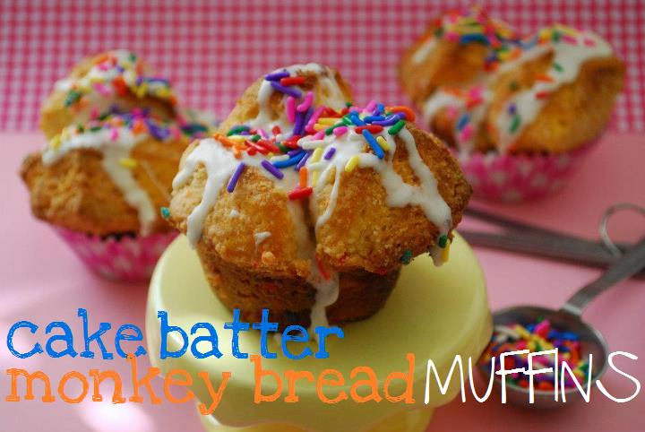 cake batter monkey bread muffins recipe photo