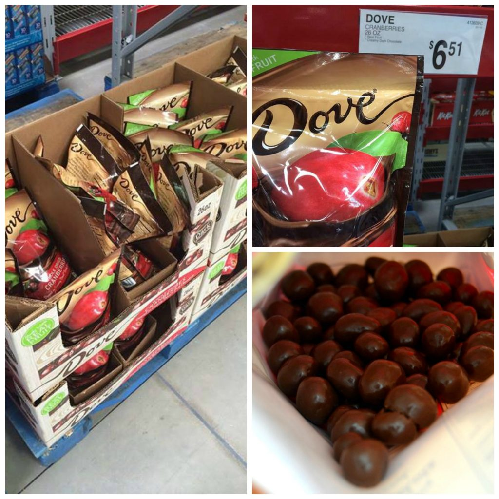 photo of dove dried fruit packaging in the supermarket