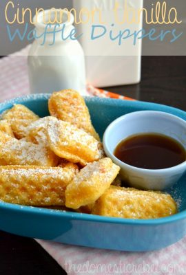 Cinnamon Vanilla Waffle Dippers and a Breakfast Night Giveaway with Krusteaz!