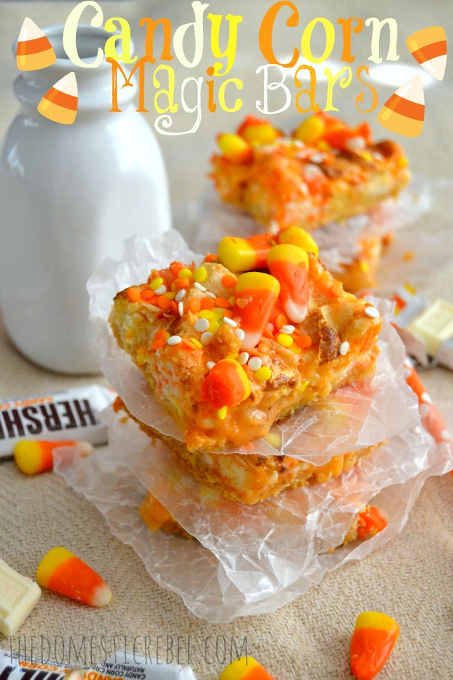 candy corn magic bars