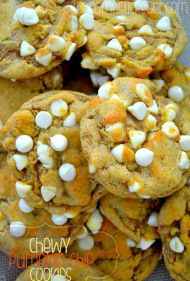 Chewy Pumpkin Chip Cookies
