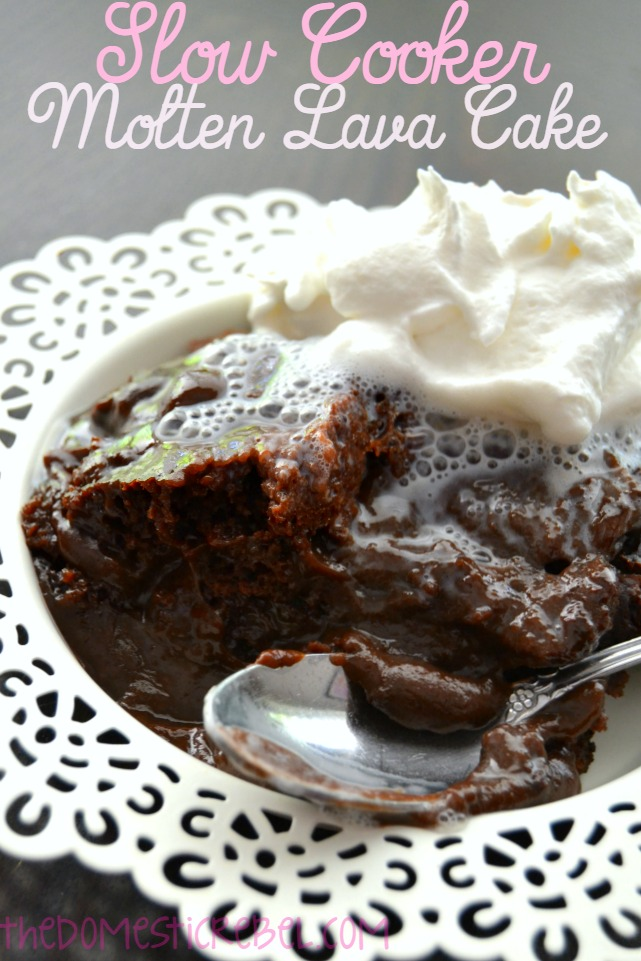 slow cooker molten lava cake recipe