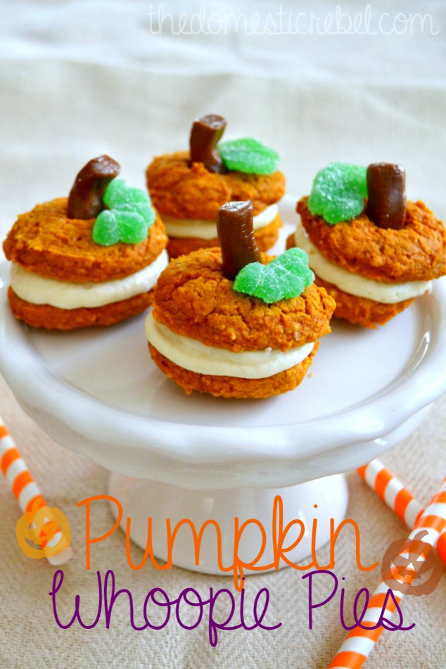 Pumpkin Whoopie Pies with Cream Cheese Frosting | The Domestic Rebel
