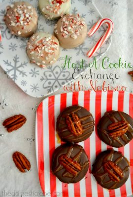Peppermint Bark Nilla Bites & Turtle Ritzwiches: Host A Cookie Swap with Nabisco!