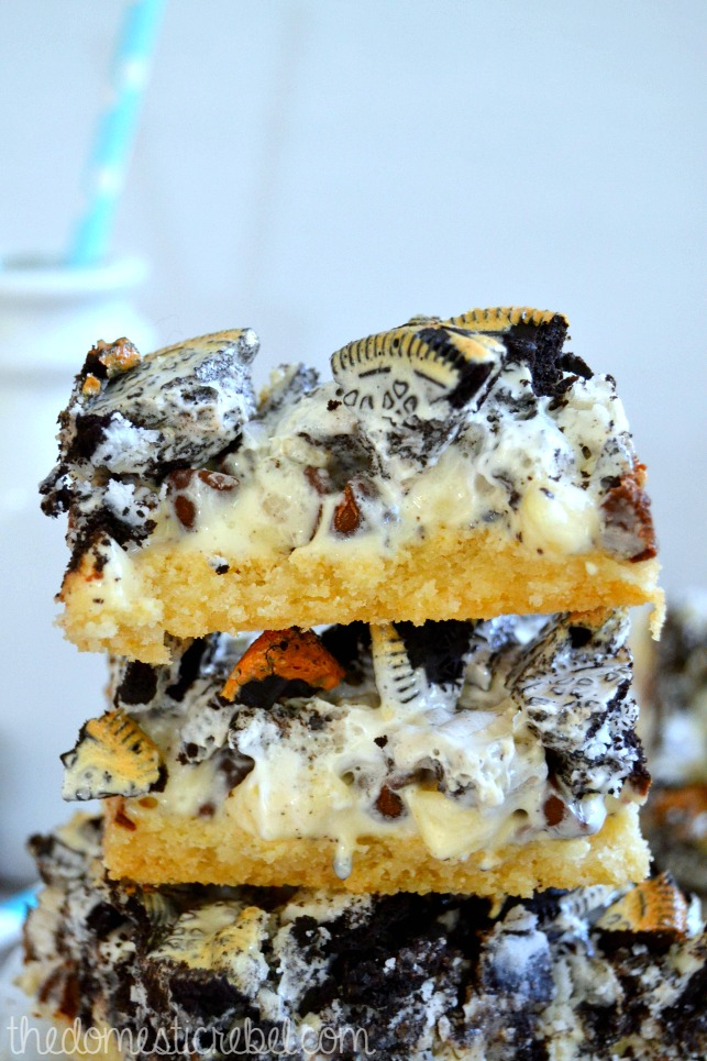 cookies n cream seven layer bars