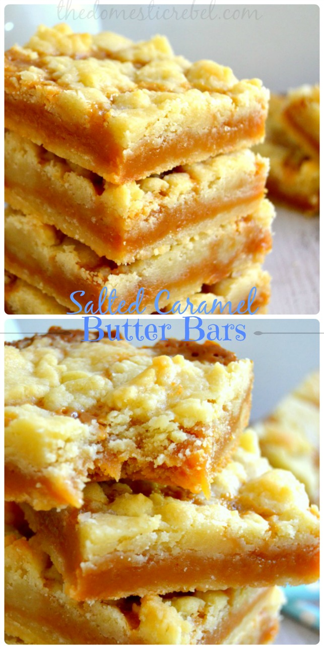 These Salted Caramel Butter Bars are packed with buttery goodness ...