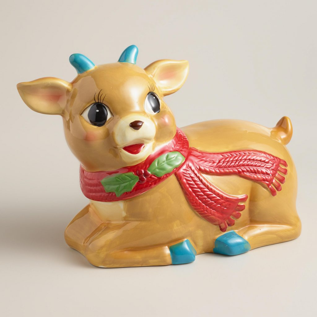 497103_VINTAGE DEER COOKIE JAR