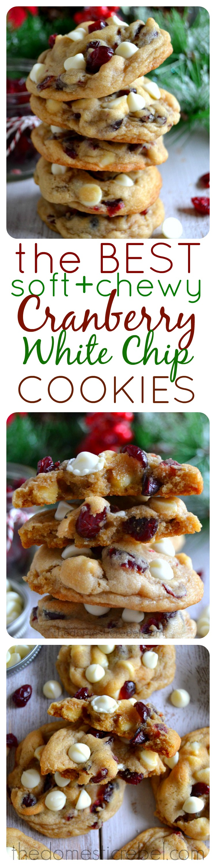 ... & Chewy Cranberry White Chocolate Chip Cookies | The Domestic Rebel
