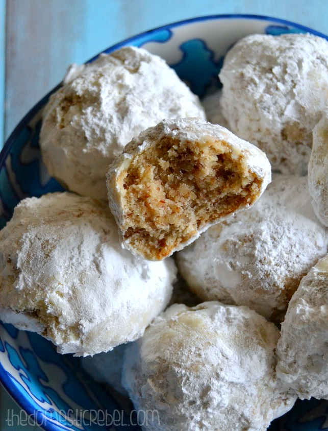 The BEST Snowball Cookies {Or Russian Tea Cakes. Or Mexican Wedding ...