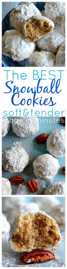The Best Snowball Cookies AKA Russian Tea Cakes or Mexican Wedding Cookies collage