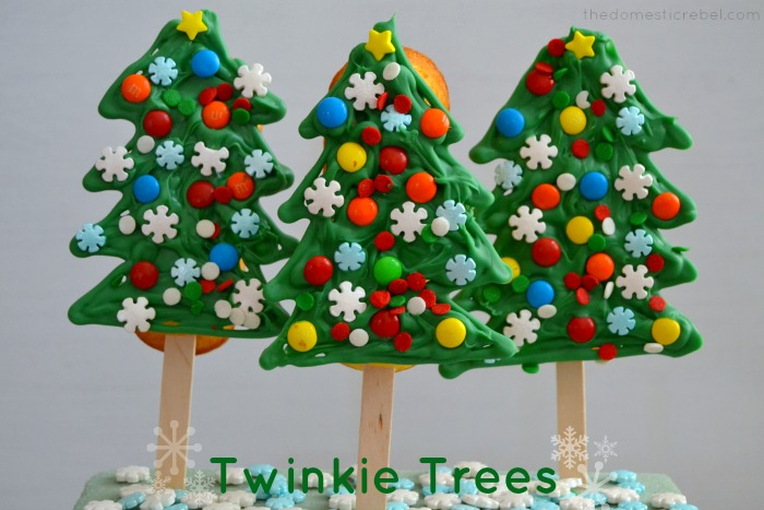 Twinkie Trees on white background