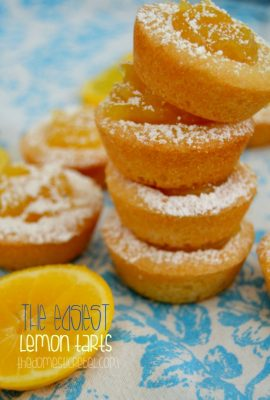 The Easiest Lemon Tarts