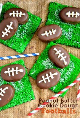 Peanut Butter Cookie Dough Footballs