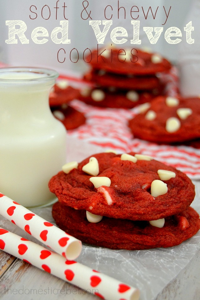 Soft & Chewy Red Velvet Cookies | The Domestic Rebel