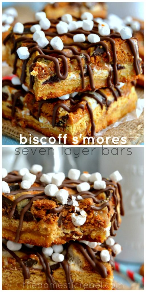 Biscoff Smores 7 Layer Bars
