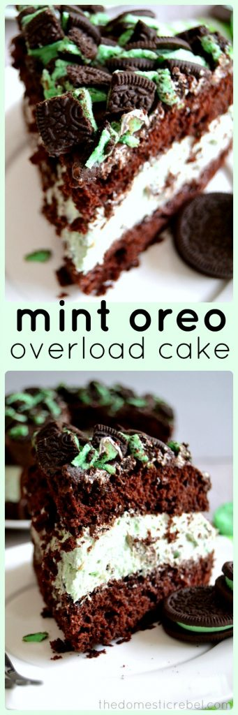 Mint Oreo Overload Cake photo collage
