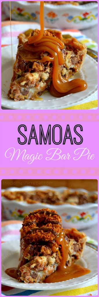 Samoas Magic Bar Pie collage