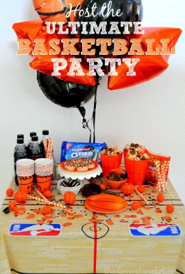 REESE'S Three Point Popcorn, Slam Dunk Coke Floats & Basketball OREOS for the ULTIMATE Basketball Party!