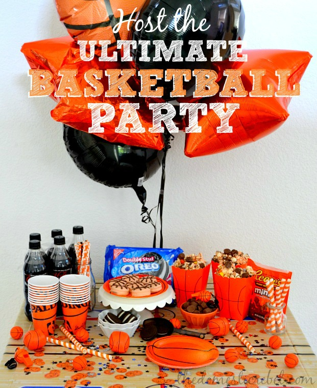 Host the ULTIMATE Basketball Party with OREO Basketballs, Slam Dunk Coke Floats, and REESE'S Three Point Popcorn!