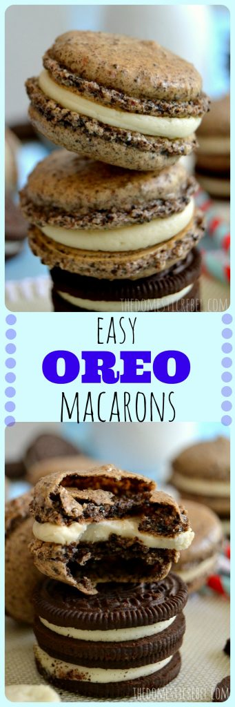 Easy Oreo Macarons photo collage