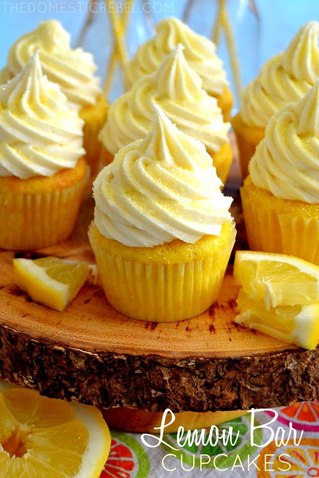 Lemon Bar Cupcakes The Domestic Rebel
