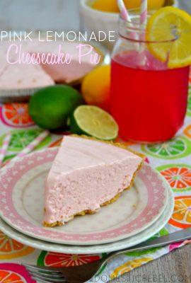 No-Bake Pink Lemonade Cheesecake Pie