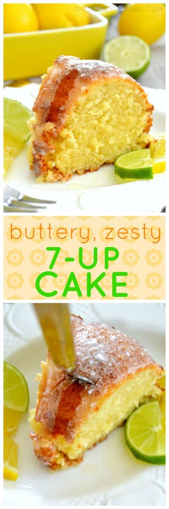 7Up Pound Cake collage