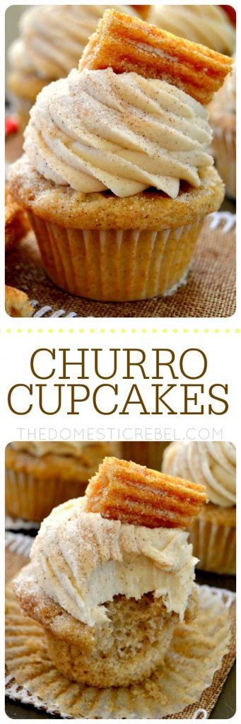 Churro Cupcakes collage