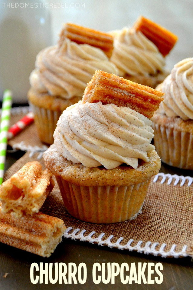 These Churro Cupcakes Are Bursting With Cinnamon Sugary Goodness In Every Bite Perfect For Cinco