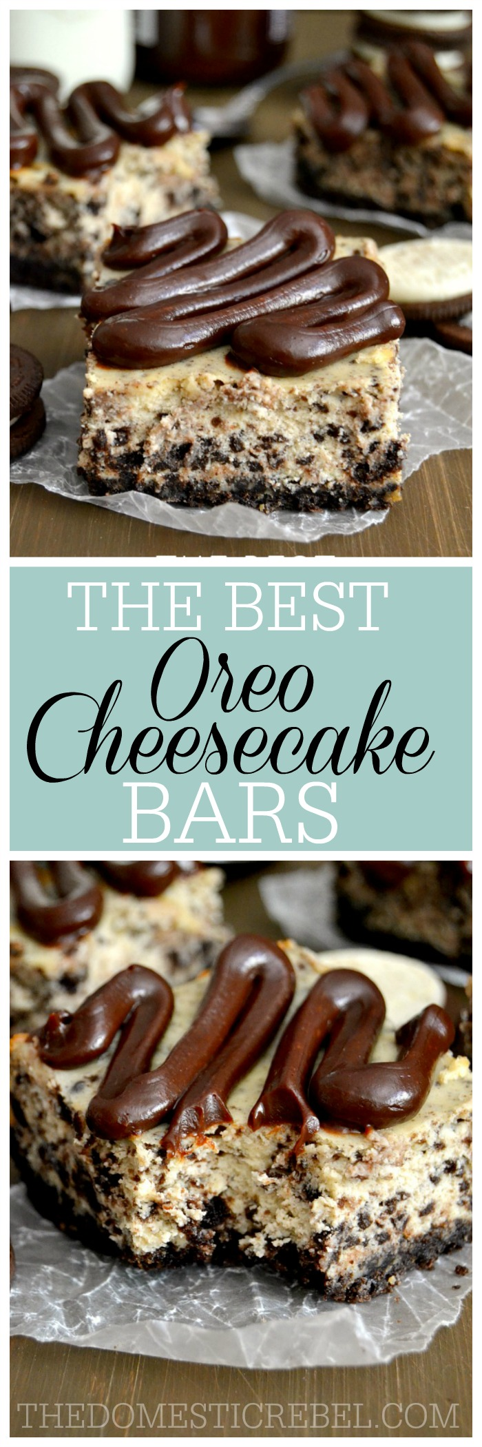Easy Oreo Cheesecake Bars The Domestic Rebel