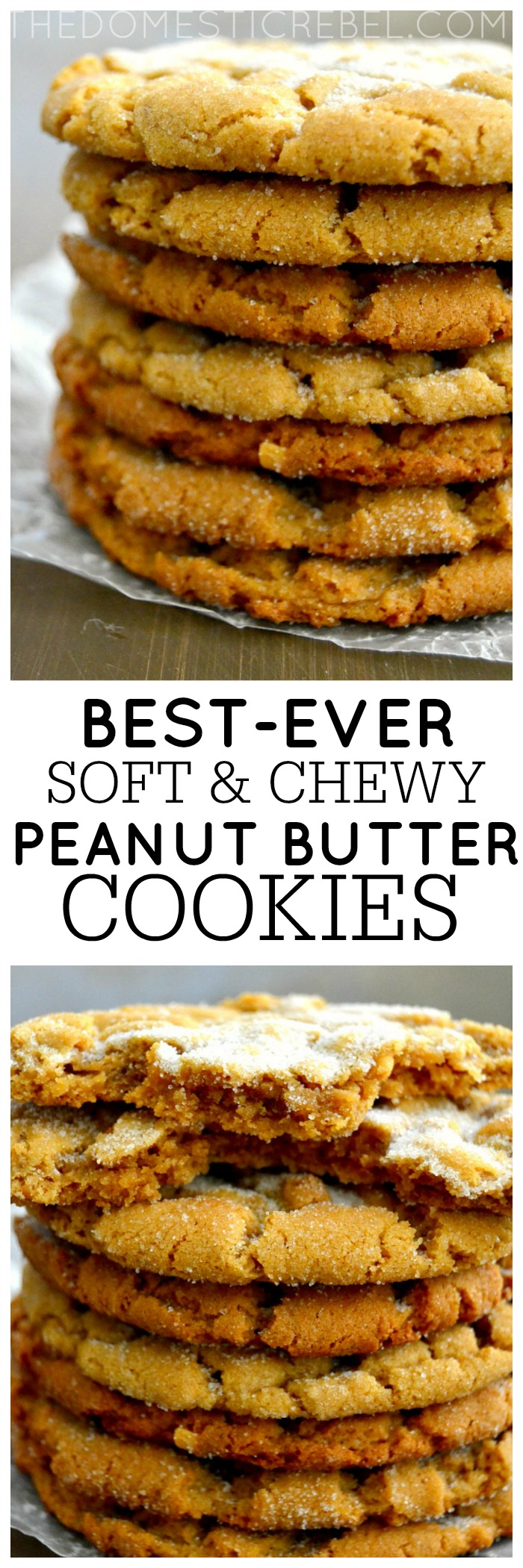 The Best Crisp and Chewy Peanut Butter Cookies {Gluten-Free!} | The ...