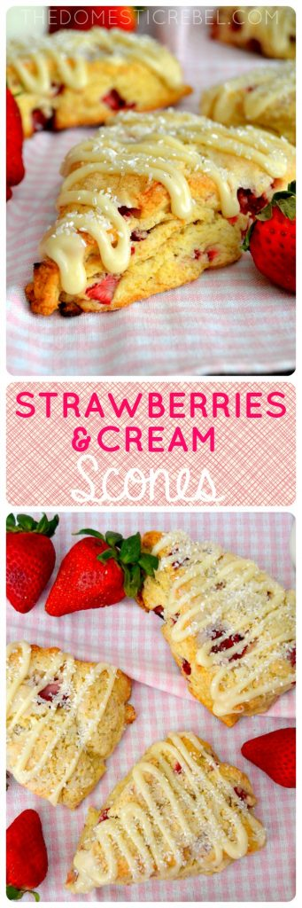 Strawberries and Cream Scones collage