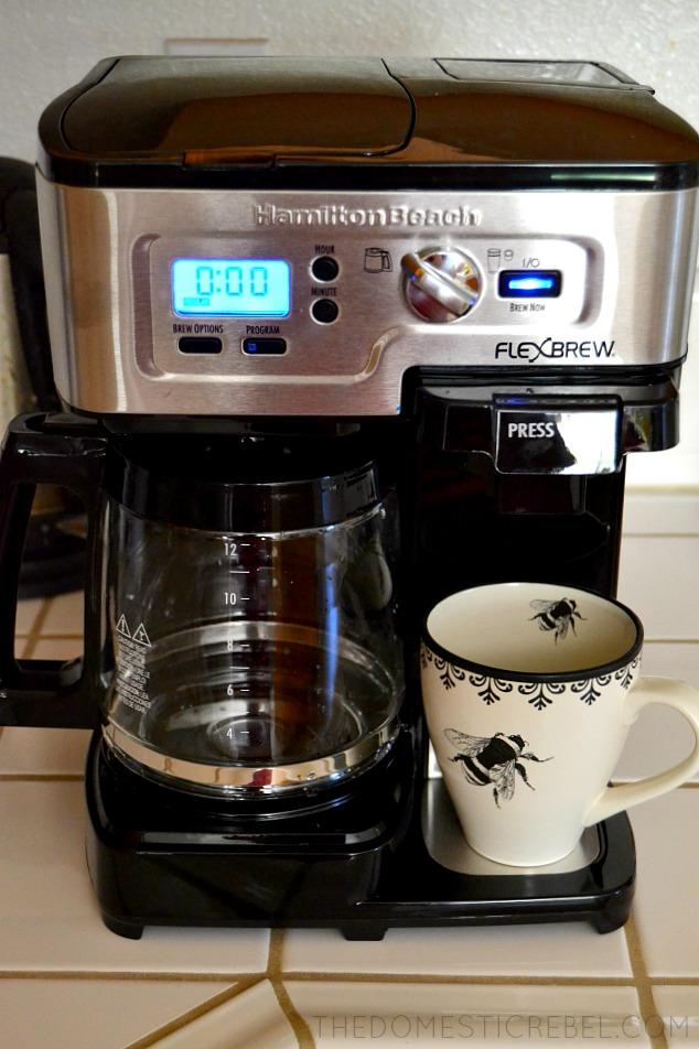 Hamilton Beach FlexBrew coffee maker on countertop