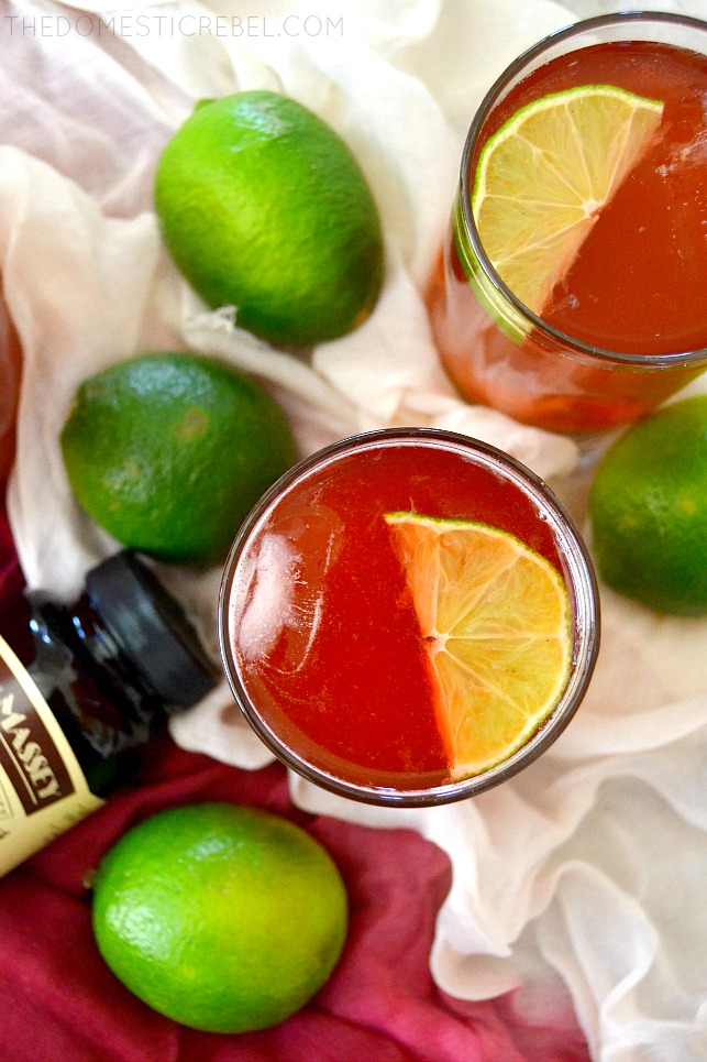 This Vanilla Bean Cherry Rum Punch is easy, fruity, sweet and FABULOUS! It'll instantly transport you to the sunny Caribbean where it was inspired by!