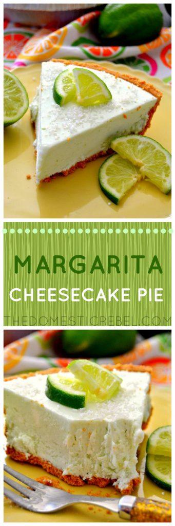 Margarita Cheesecake Pie collage