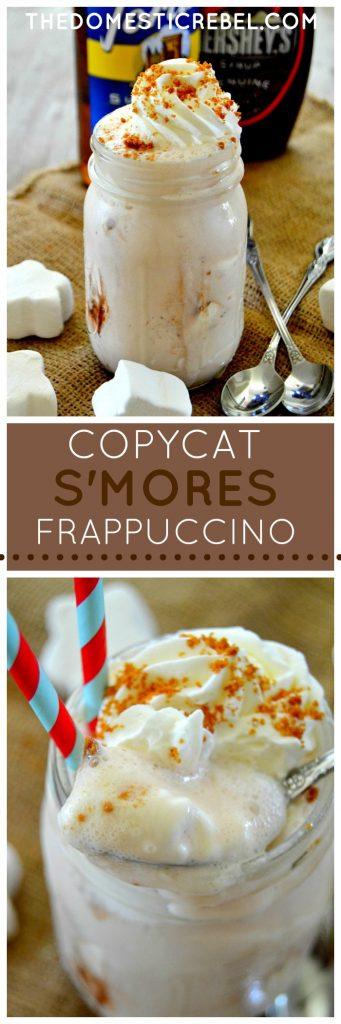 Copycat S'mores Frappuccino collage
