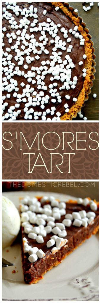 S'mores Tart collage