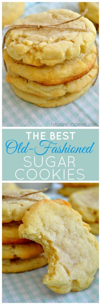 These Old-Fashioned Sugar Cookies are so supremely soft, tender and buttery! This recipe is totally foolproof; you won't want another sugar cookie recipe after this easy, delicious one!