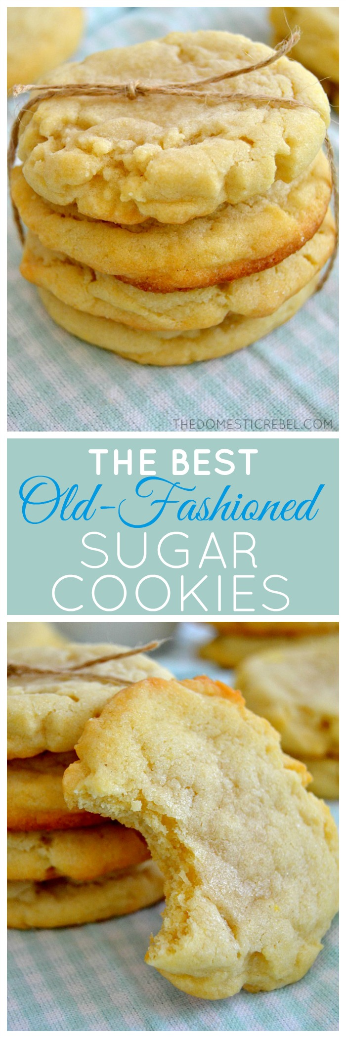 These Old-Fashioned Sugar Cookies are so supremely soft, tender and ...