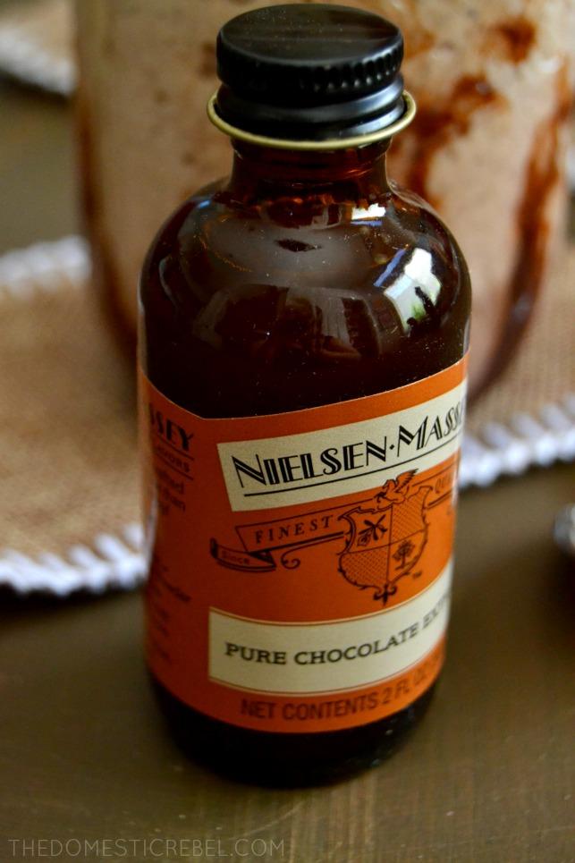 Photo of Nielsen-Massey chocolate extract bottle