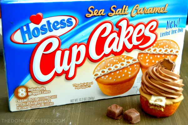 Photo of Sea Salt Caramel CupCakes in packaging with cupcakes in front