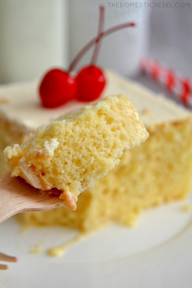 This Tres Leches Cake is truly the BEST and EASIEST cake you'll make! Creamy, fluffy, moist and delicious, this flavorful cake will soon be a new favorite!