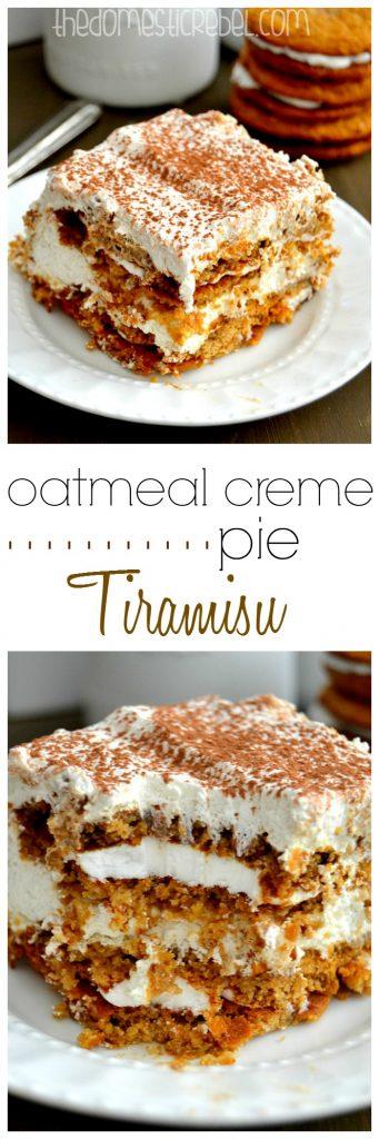 Oatmeal Creme Pie Tiramisu colllage