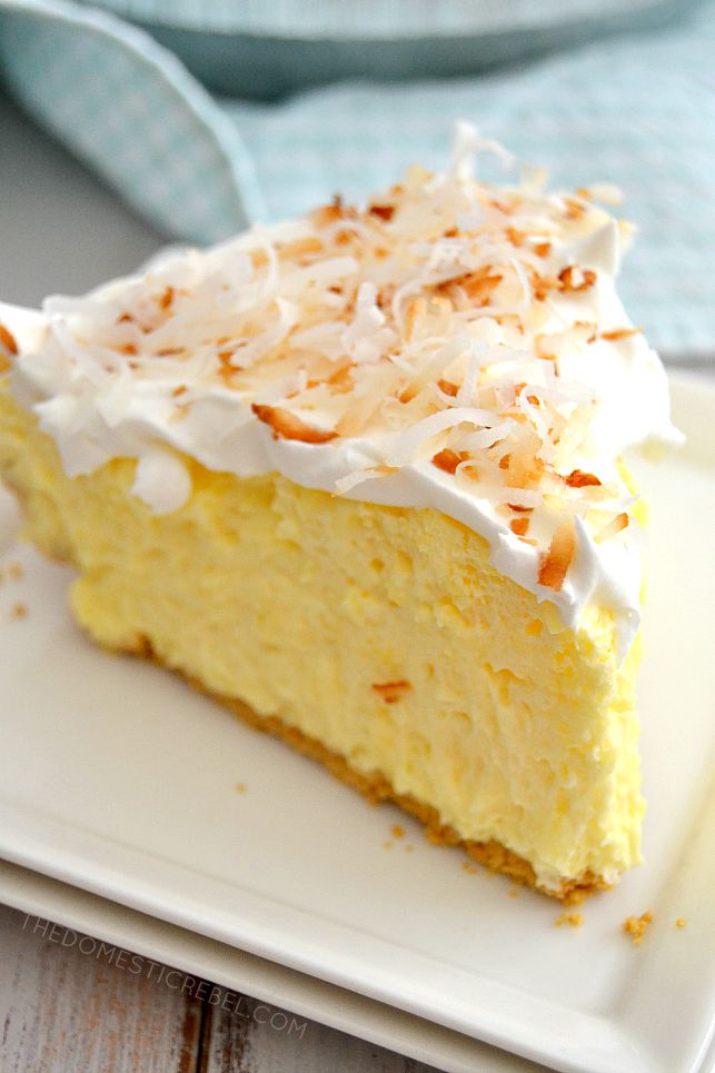 This No-Bake Easy Coconut Cream Pie is a clas